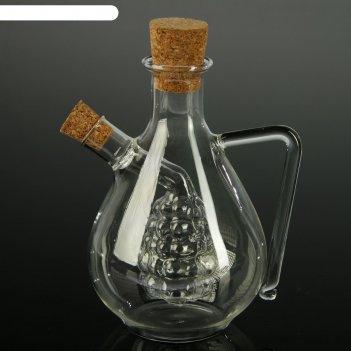 Бутыль для соусов и масла 2 в 1 фьюжн.виноград, ёмкости 450 мл, 60 мл, 11х