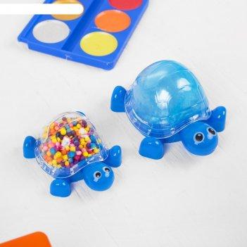 Набор для творчества слим черепашка с шариками своими руками, цвет синий