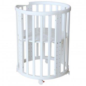Кроватка детская polini kids simple 911, цвет белый