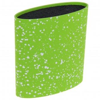 Подставка для ножей 16x7 см зефир, с наполнителем, цвет зелёный