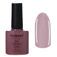 Гель-лак для ногтей серо-сереневый 10153 florans