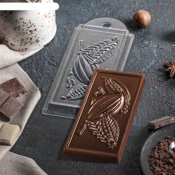 Форма для шоколада какао 7х15х10 см