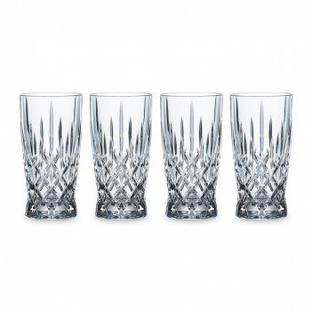 Набор из 4-х стаканов noblesse, объем: 350 мл, материал: хрустальное стекл