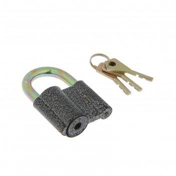 Замок навесной park ч/60, 3 ключа, алюминиевый, серый