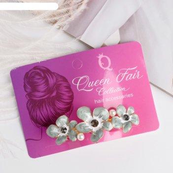 Заколка-автомат для волос сандрин 6,5 см, три цветка