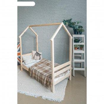 Детская кровать-домик «берендей», 700 x 1600 мм, массив сосны