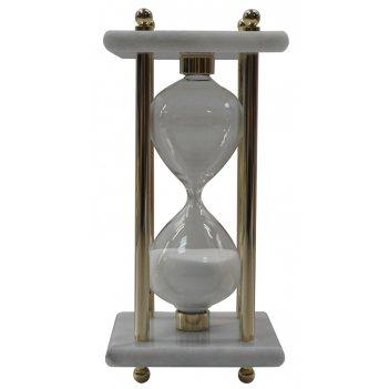 Песочные часы, 8см x 8см x 17см, 15 минут, мрамор  . 665w