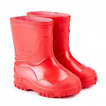 Сапоги детские пвх, цвет красный, размер 23