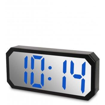Ял-07-22/5 часы электронные сред. зеркальные (черные с синим циферблатом)