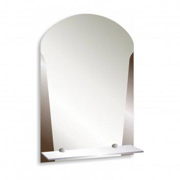 Зеркало «лион», настенное, с полочкой, 39х58 см