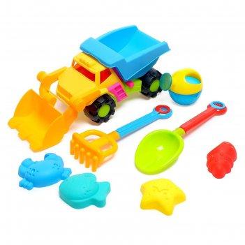 Песочный набор супер грузовик, 8 предметов, цвета микс