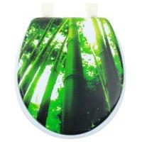 Сиденье для унитаза мягкое бамбук