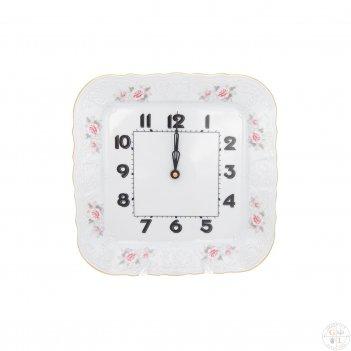 Часы квадратные bernadotte серая роза золото 26 см