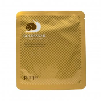Гидрогелевая маска золото и экстракт улитки petitfee, 30 г
