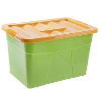Ящик для игрушек на колесах. цвет: зеленый  4312068
