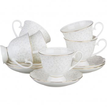 Чайный набор на 6 персон 12 пр.вивьен 300 мл.(ко...