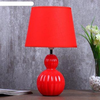 Настольная лампа верона 1x40вт e14 красный 24х24х33см
