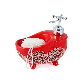 Диспенсер для мыла с губкой 16*10*14см