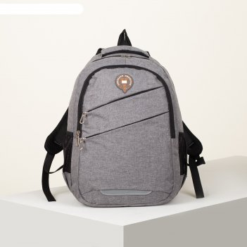 Рюкзак школьн шер, 31*13*45, 2 отд на молниях, 2 н/кармана, 2 бок карм, ды