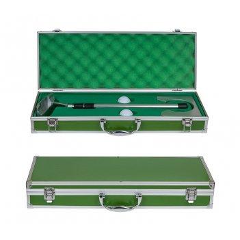Набор для гольфа в зеленом кейсе