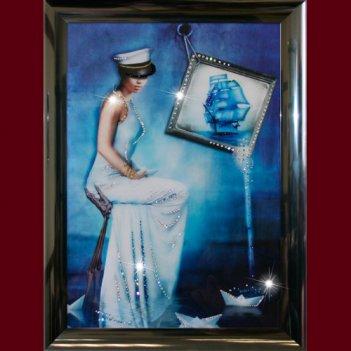 Картина сваровски - морская дама