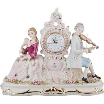 Часы настольные 44*20 см. высота=35 см. циферблат диаметр=8 см.