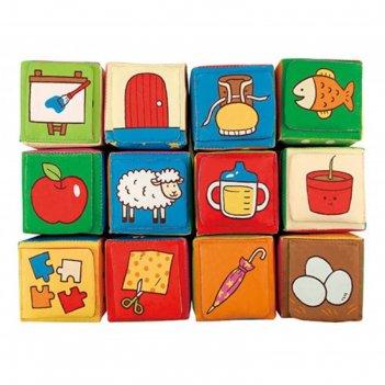 Кубики мягкие обучайка, мягкие