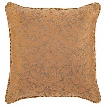 Подушка декоративная аурум 45х45см,100% п/э, , золото.
