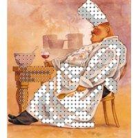 """""""магнит повар 2"""" рисунок для вышивания бисером"""