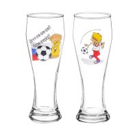 Набор бокалов для пива 300 мл футбол, 2 шт