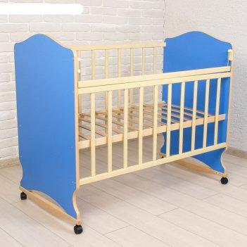 Детская кроватка морозко, цвет синий