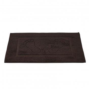 Коврик для ванной karna gren, размер 50х70 см, цвет тёмно-коричневый 2760