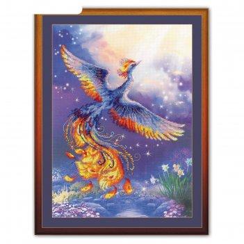Набор для вышивания крестиком птица счастья 0034 рт