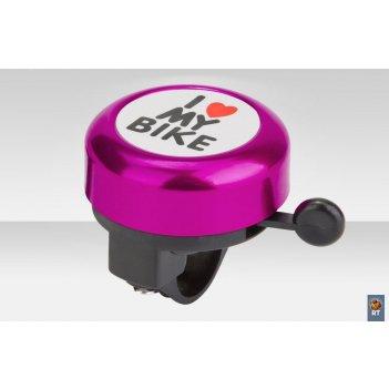 45ae-04 звонокi love my bike алюминий чёрно-фиолетовый