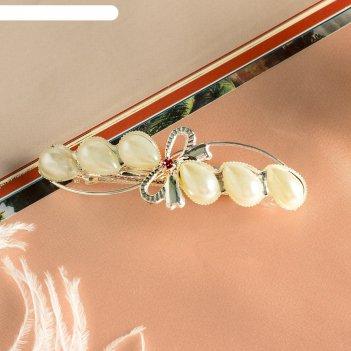 Заколка-автомат для волос жемчужная ветвь, микс