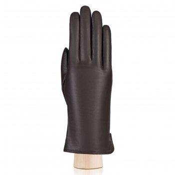 Перчатки женские, размер 7.5, цвет тёмно-коричневый