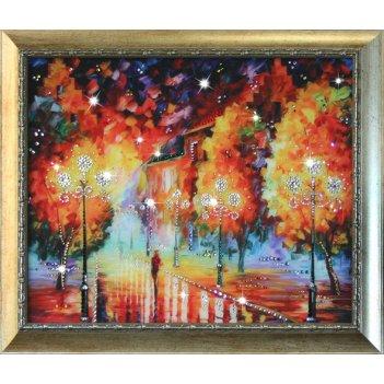 Картина сваровски - фонари