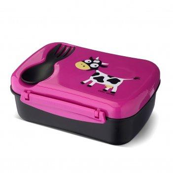 Ланч-бокс детский с охлаждающим элементом n'ice box™ cow фиолетовый
