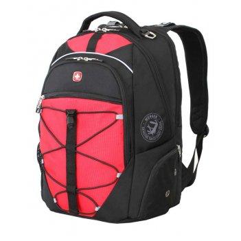 Рюкзак wenger, чёрный/красный, полиэстер 900d/м2 добби, 34x19x46 см, 30 л