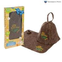 Набор банный детский царский сын: коврик и шапка