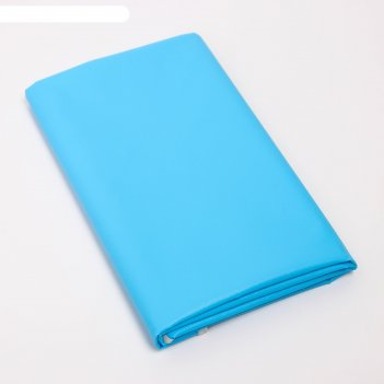 Клеенка 68*100 см., арт. 51374, пвх, с окантовкой, цвет лазурный