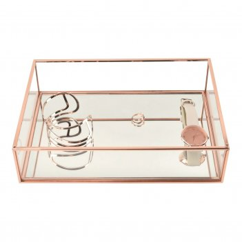Lc designs 73869 стильный стеклянный бокс для хранения часов и др. аксессу