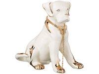 Фигурка собака белая с цепочкой 25*14 см. высота...