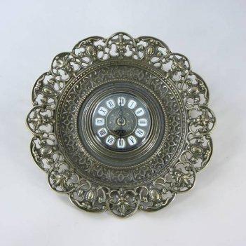 Часы настенные из бронзы цвет антик