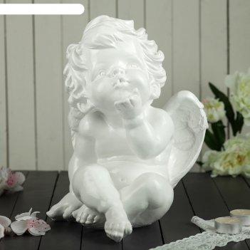 Статуэтка ангел сидит белая