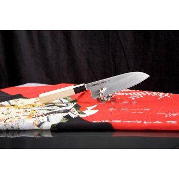 Нож кухонный сантоку японский шеф samura okinawa so0194 лезвие 160 мм