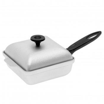 Квадратная сковорода-гриль d-260 с пластмассовой ручкой и крышкой