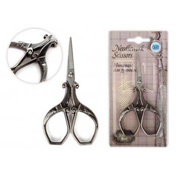 Ножницы для рукоделия винтаж, античное серебро