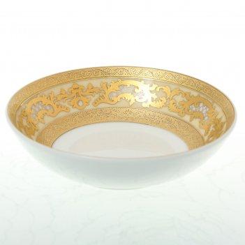 Набор розеток falkenporzellan alena 3d creme gold 10 см(6 шт)