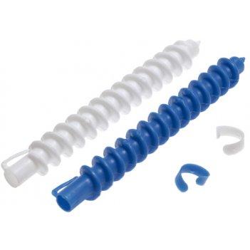 Бигуди 12 мм спиральные, в комплекте с зажимами, 12 штук в упаковке